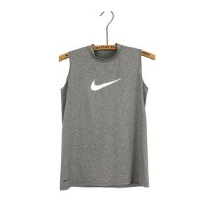 Nike Dri-Fit Tank Top Grey Swoosh Logo